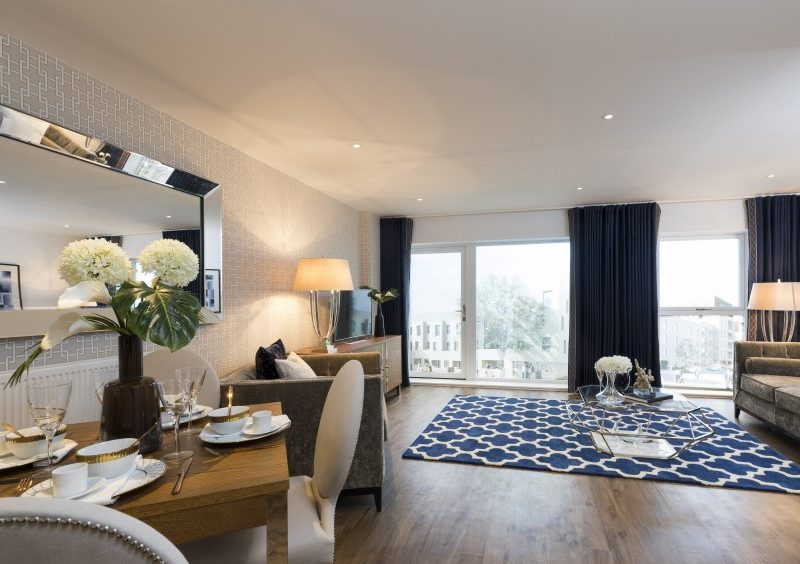 Interior of the two-bedroom showhome at Trinity Walk, Woolwich by Lovell Homes
