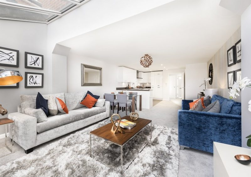 The living area of the new show home at So Resi Wokingham.