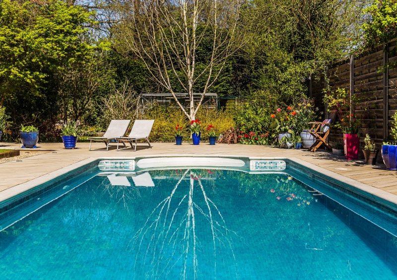 The swimming pool at Willowhayne, Wonersh.
